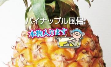 8/17(金)はパイナップル風呂!本物入ります!